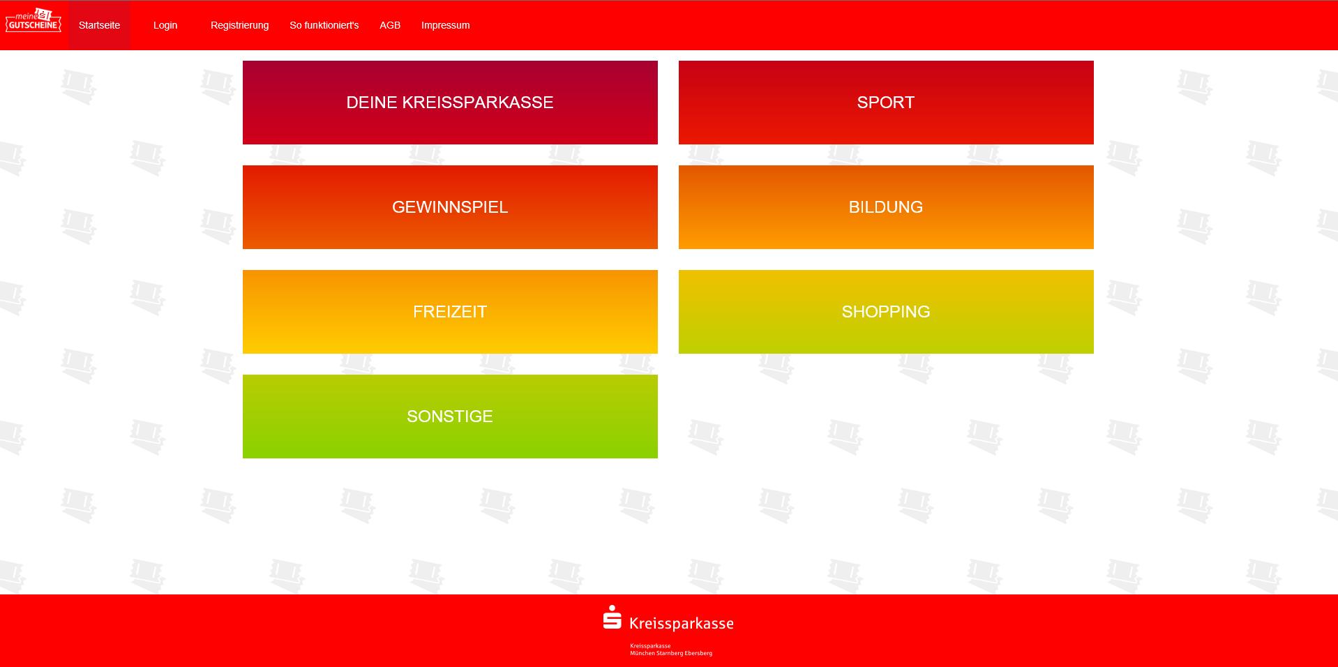 Zur Startseite der Gutschein App