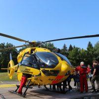 Zu Besuch bei der Crew des Rettungshubschraubers Christoph 1